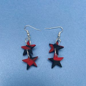 BLACK AND RED STARS